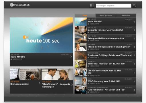Gratis App: ZDF Mediathek