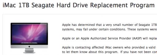 Defekte Festplatten im iMac 2011 – Replacement Program