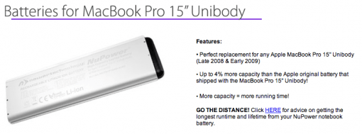 Neue MacBook Pro Akkus