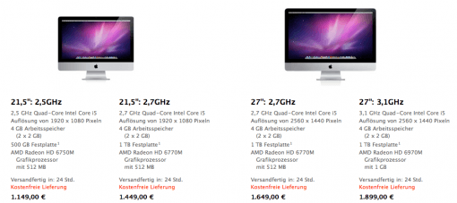 iMacs bekommen Update