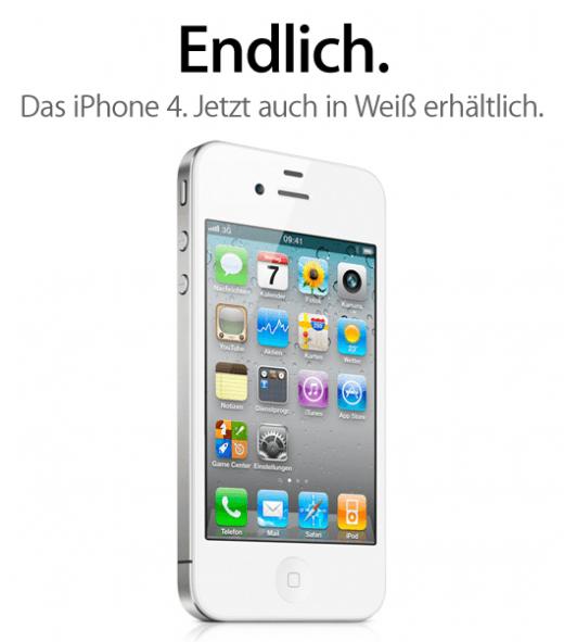Weißes iPhone jetzt verfügbar