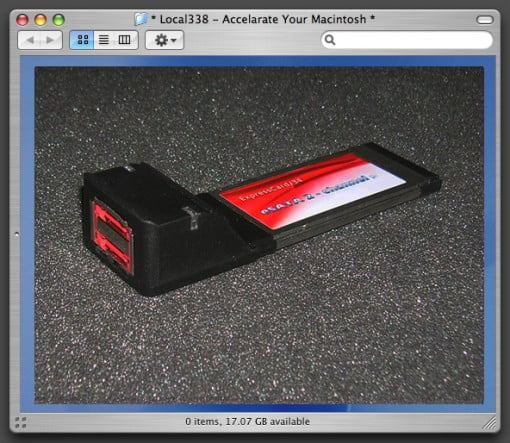 2 Port eSATA ExpressCard 34 MacBook