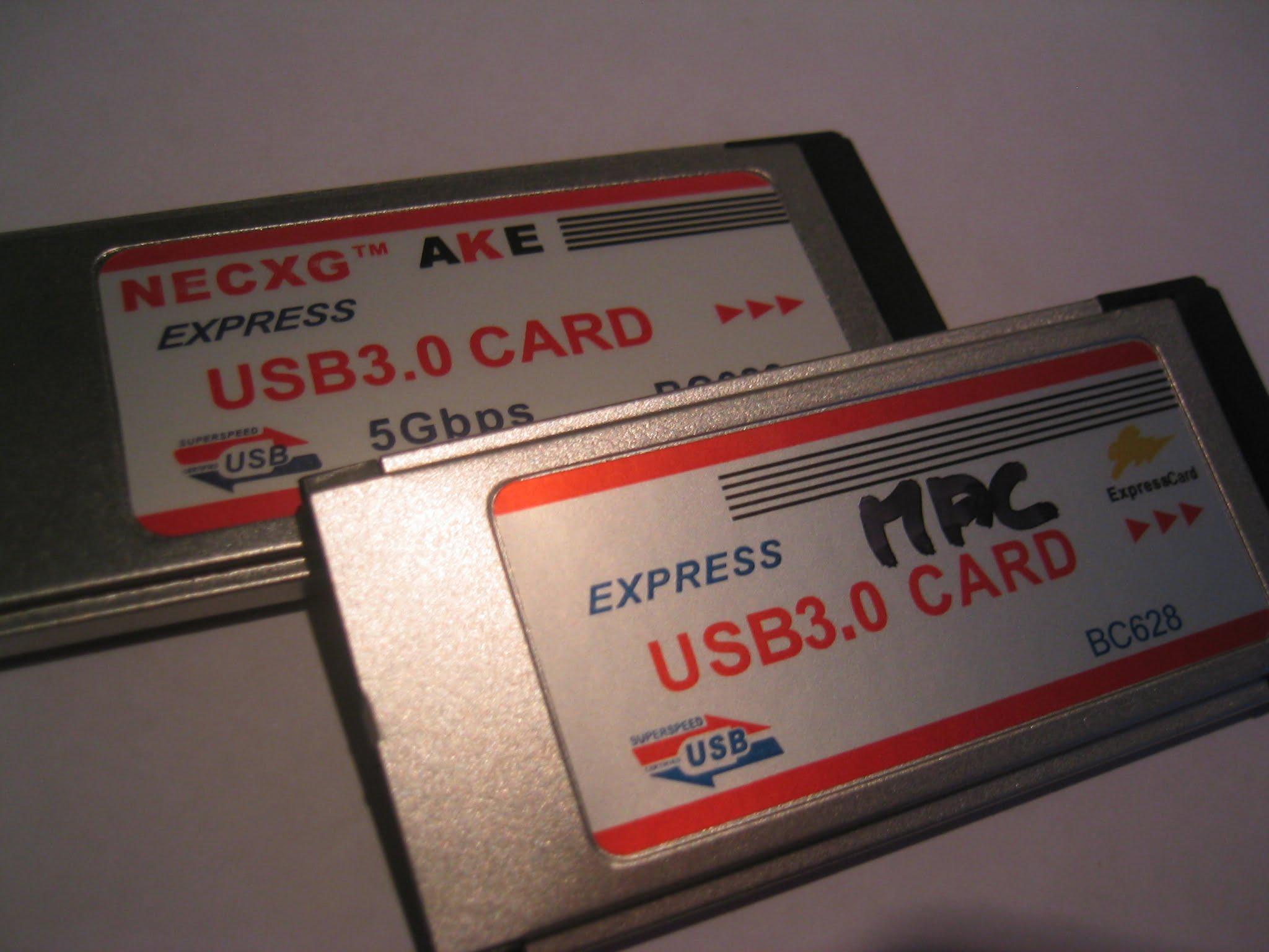 Express Card 34 USB 3.0 in MacBook Pro