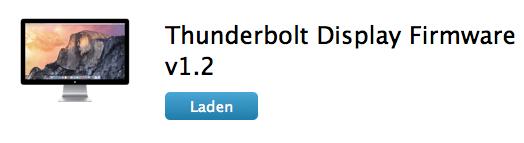 Neue Firmware fürs Thunderbolt Display