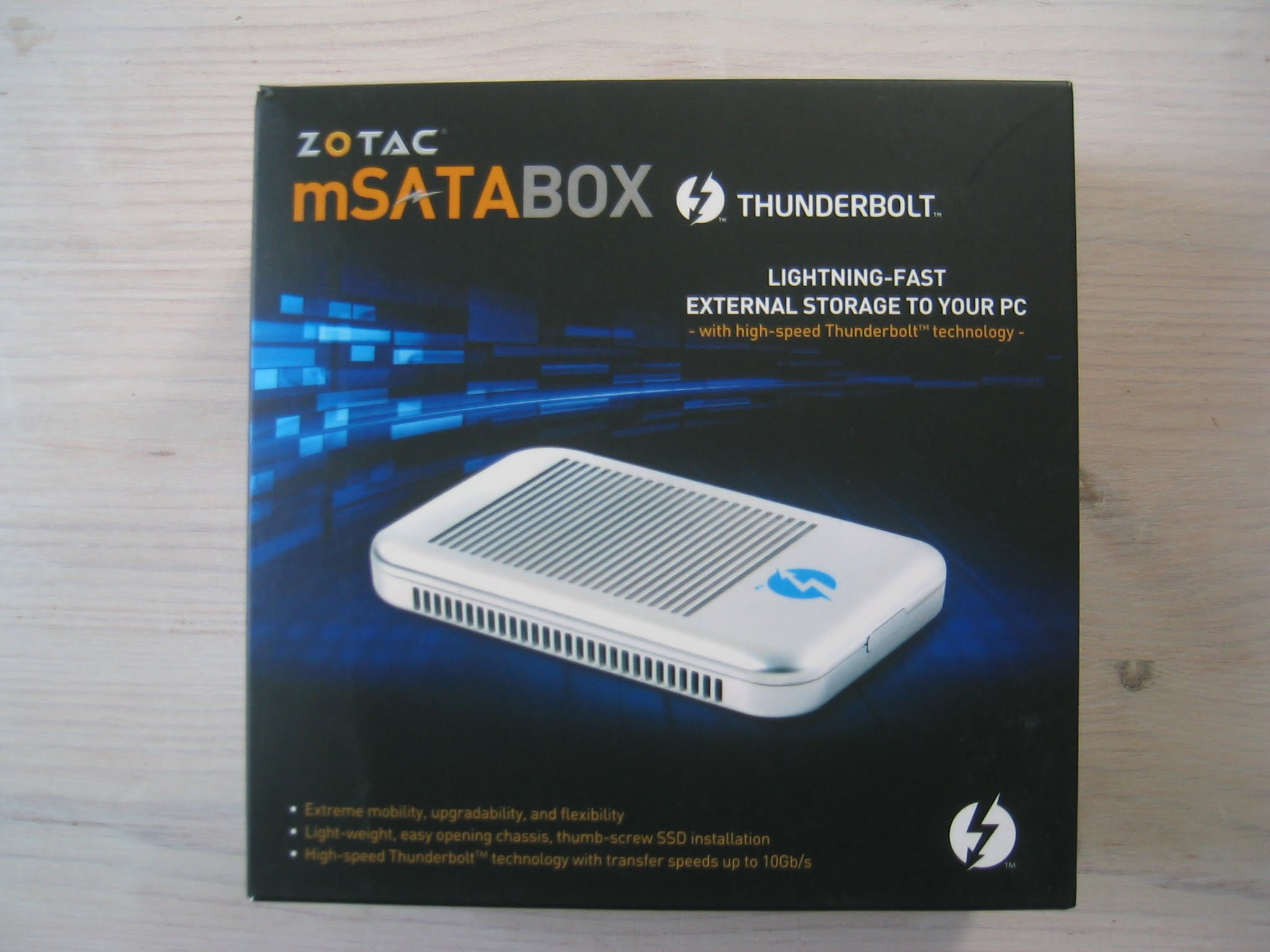 Review: Zotac mSATABOX Thunderbolt SSD RAID Gehäuse im Test
