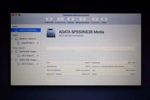 Festplattendienstprogramm macOS