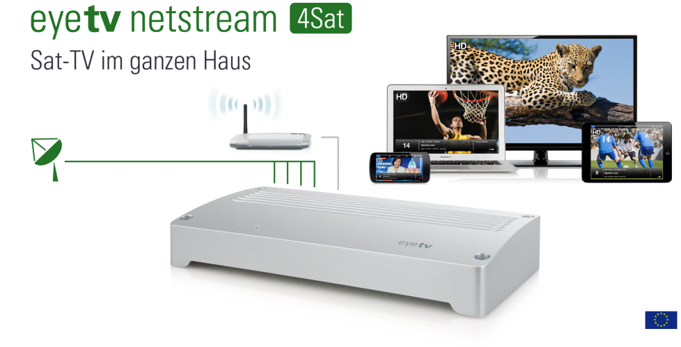 elgato eyeTV netstream 4Sat und 4C für Fernsehen im Netz