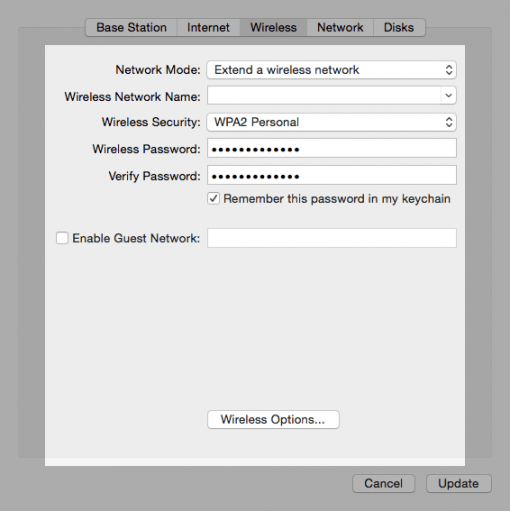 AirPort Extreme Repeater Extend