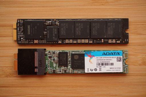 MacBook Air SATA SSD Original vs. Adapter