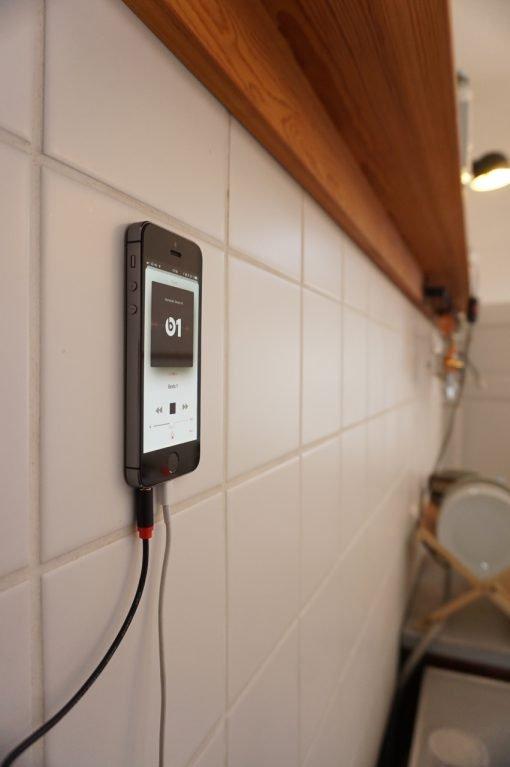 iPhone an der Wand