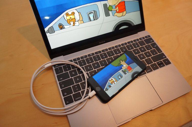 iPhone Bildschirminhalt auf MacBook spiegeln mit Lightning Kabel: How to