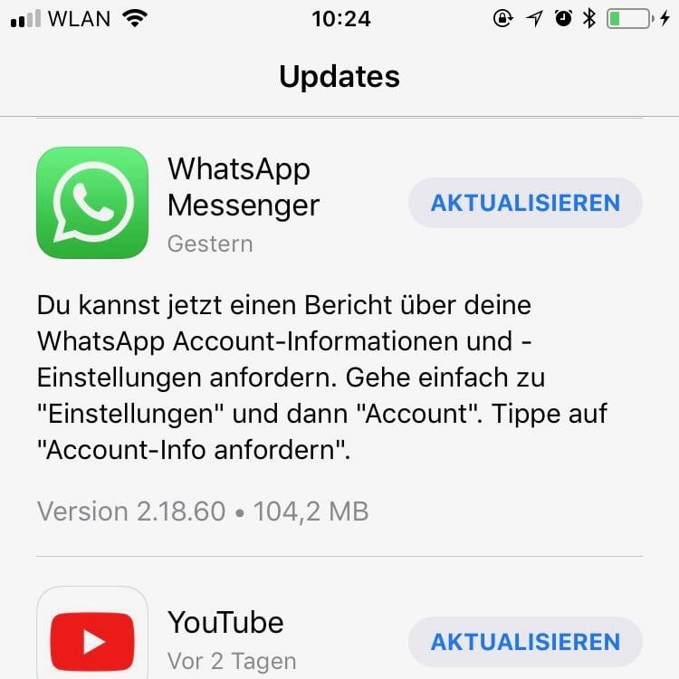 Update WhatsApp iOS