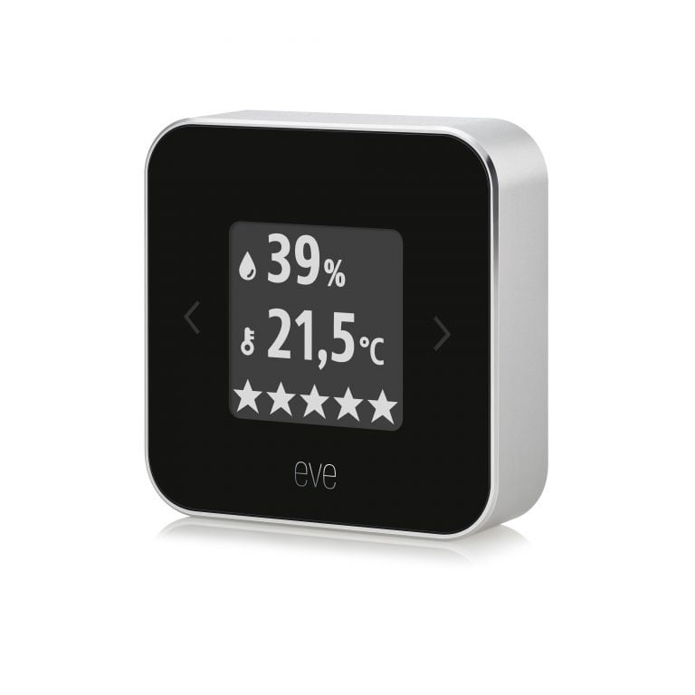 eve room: Überwachung von Temperatur und Luftfeuchtigkeit