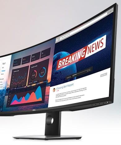 Dell UltraSharp 49 Curved Monitor (U4919DW) im 32:9 Format