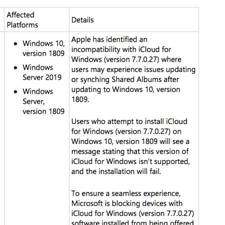 Windows 10, Version 1809