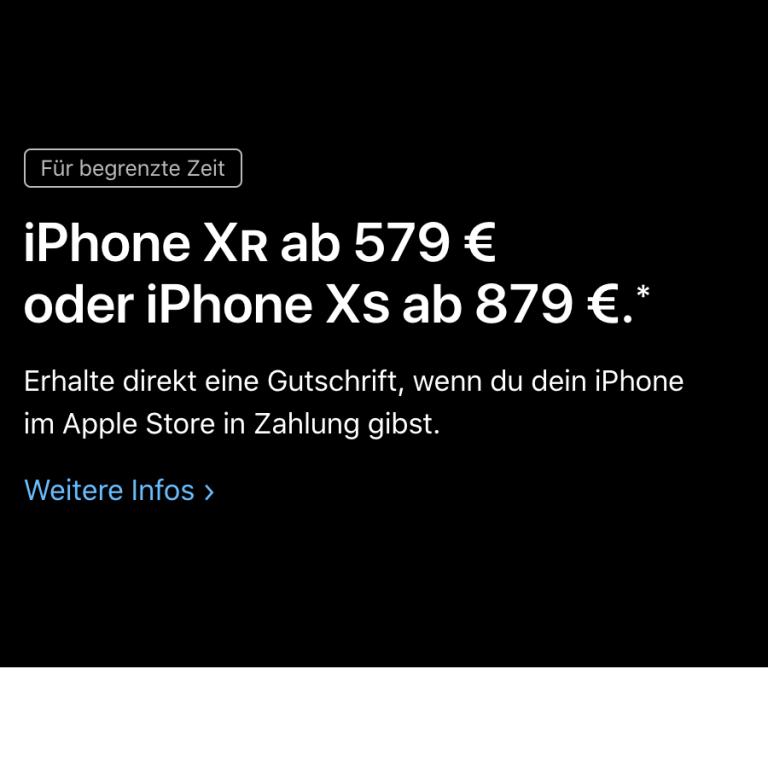 Rabatte auf iPhones: Apple startet Trade-in Programm