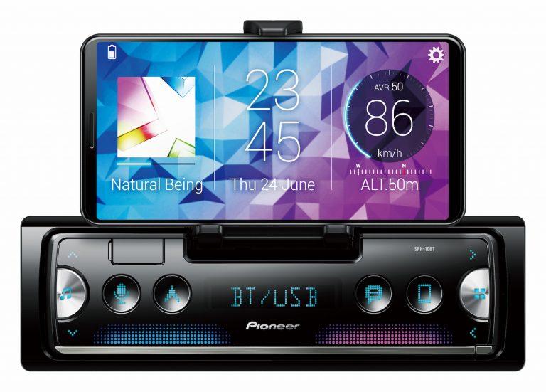 Pioneer SPH-10BT Autoradio nutzt iPhone als Display