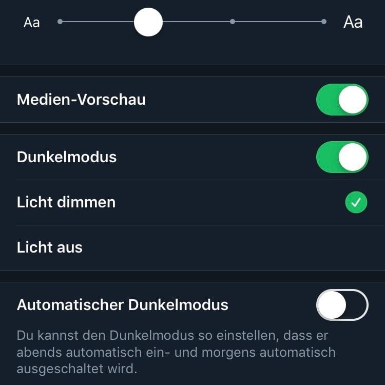 """Twitter App mit neuem automatischen """"Licht aus"""" Mode"""
