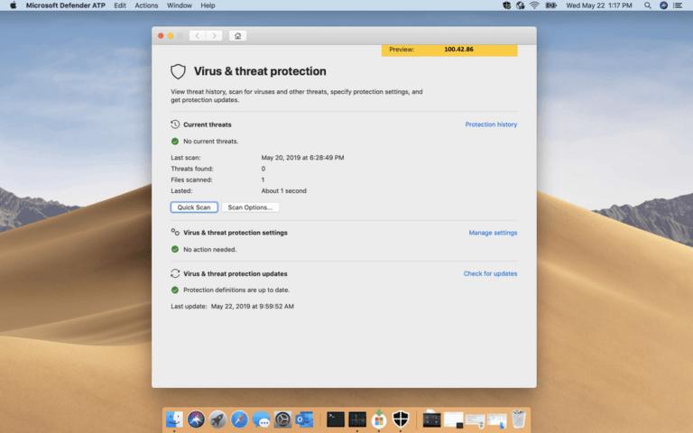 Microsoft Malware- und Virenscanner für den Mac