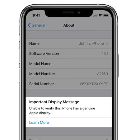 Apple warnt auf neuen iPhone vor Dritthersteller-Displays