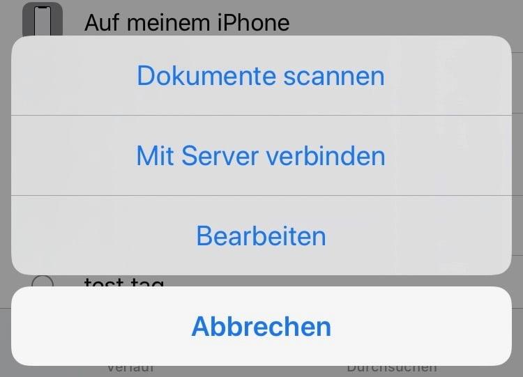 iOS 13: Wie man ein iPhone/iPad mit einem smb Server verbindet