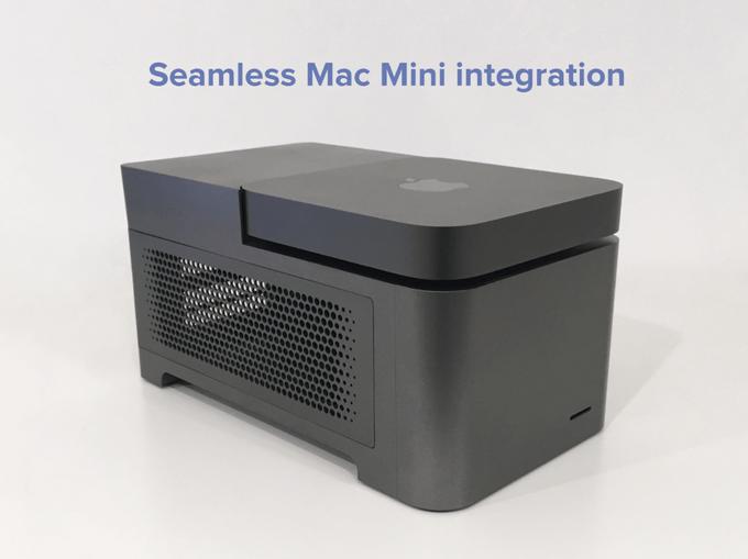 Erweiterung für Mac mini: 2x GPU, 4x SSD