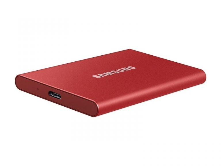 Externe Samsung SSD T7 mit bis zu 1.050 MB/s