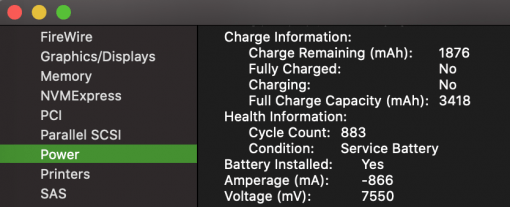 Macos Battery Information