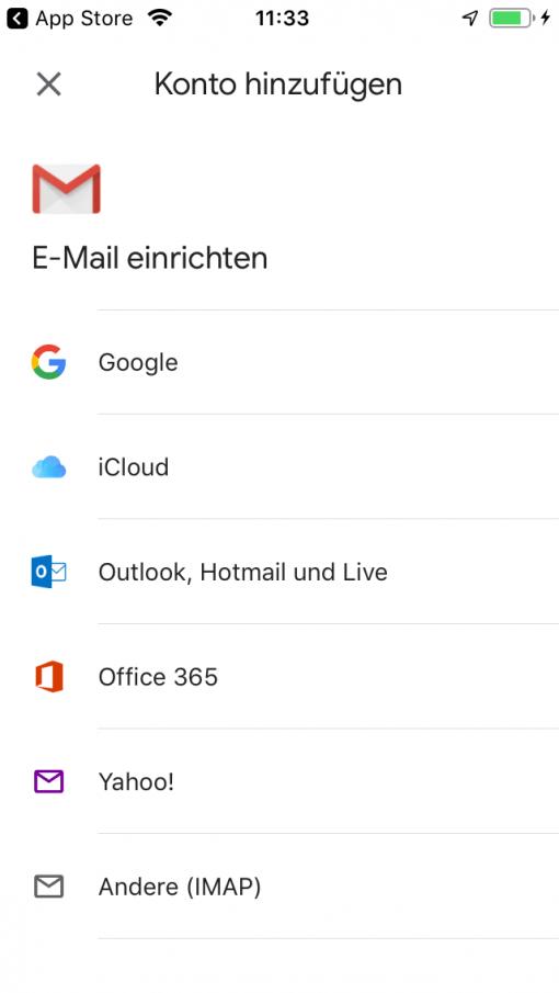 Gmail App Ios Neues Konto