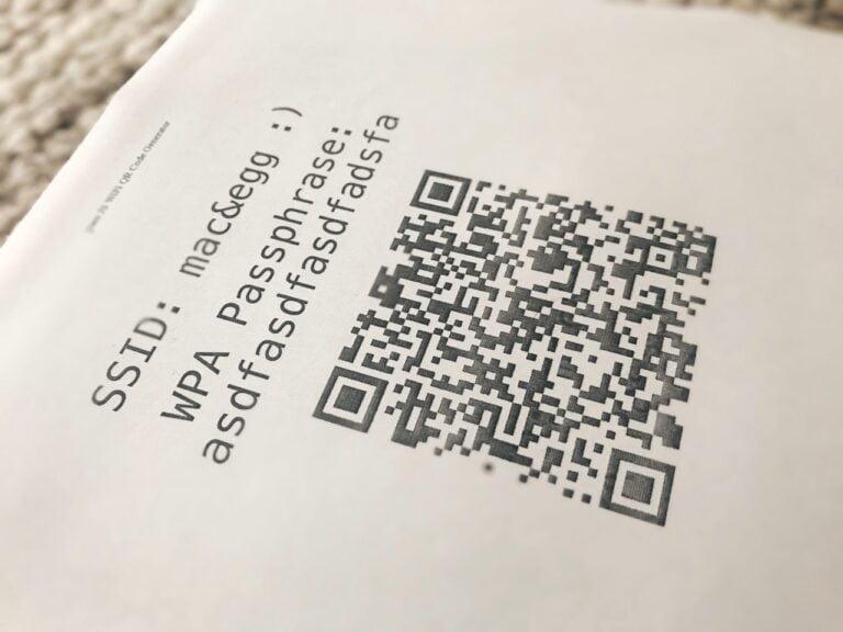 Gast WLAN: Passwort als QR-Code bereitstellen