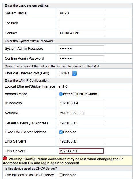 Bintec RS120 Firewall Switch 1
