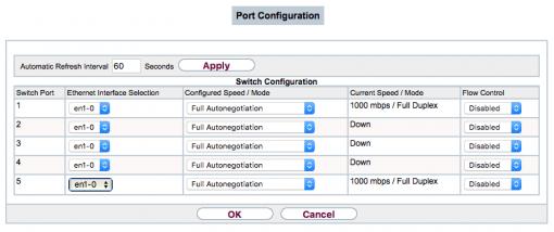 Bintec Switch Interface Selection RS120 1