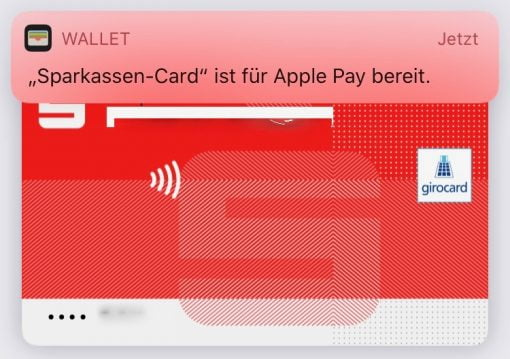 Girocard in Apple Pay