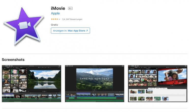 iMovie für iOS und macOS mit neuen Filtern