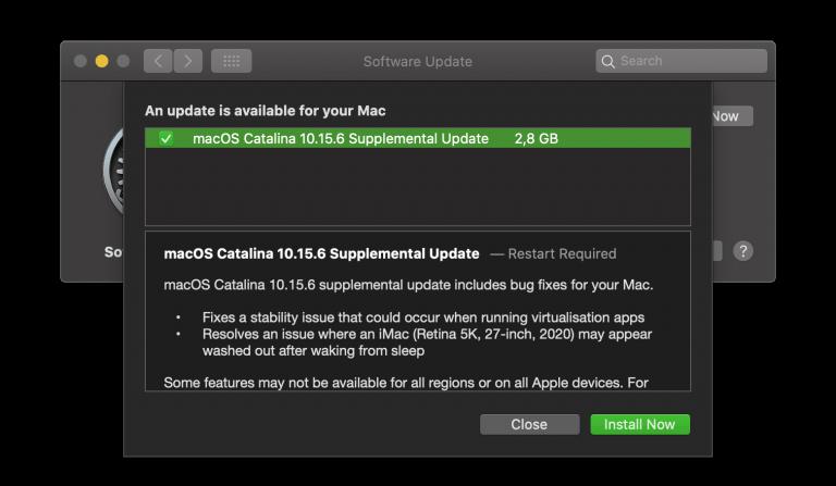 iOS/iPadOS 13.6.1 und macOS Supplemental Update