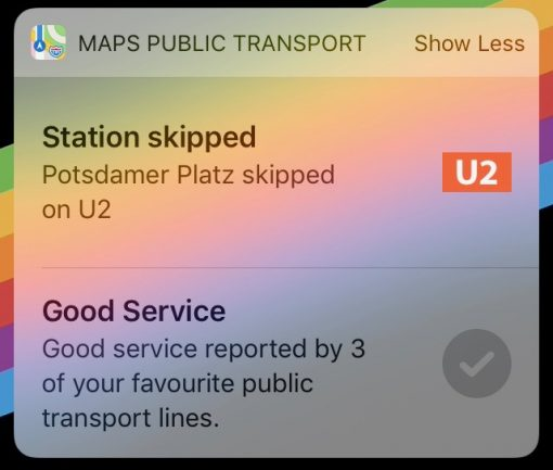iOS 13 Karten