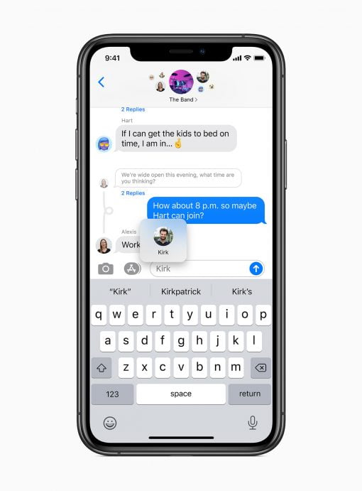 iOS 14 Group Messages