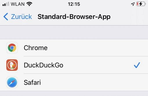 iOS 14 Standard Browser App