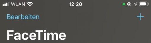 iOS 14 green Indicator