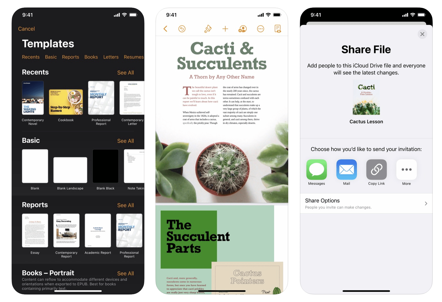 iOS Pages Update