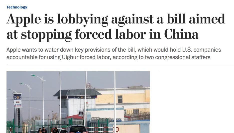 Washington Post Forced Labour Apple