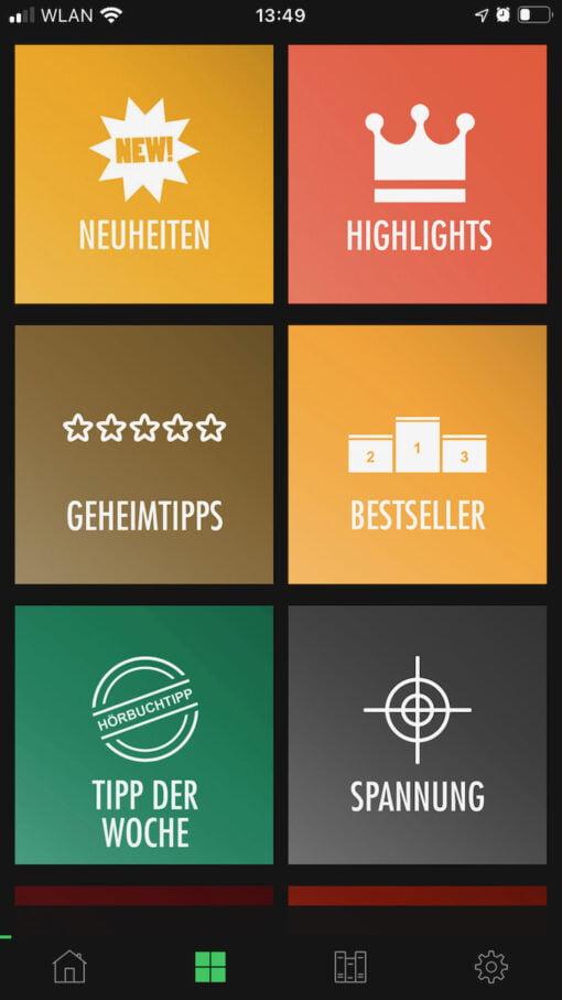 Bookify Kategorien
