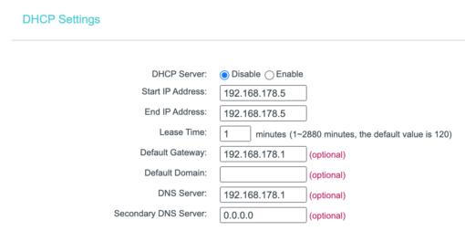 TP Link DHCP