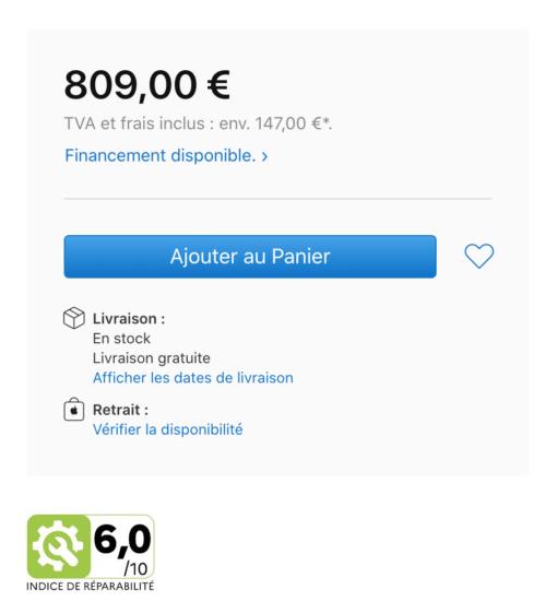 Repair Index iPhone France