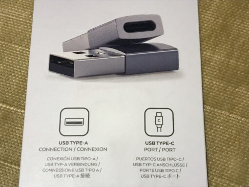 Satechi USB A to USB C Adapter back