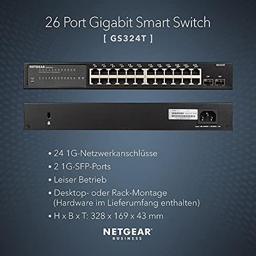 35744 2 netgear gs324t switch 24 port