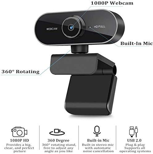 39013 4 webcam mit mikrofon und stativ