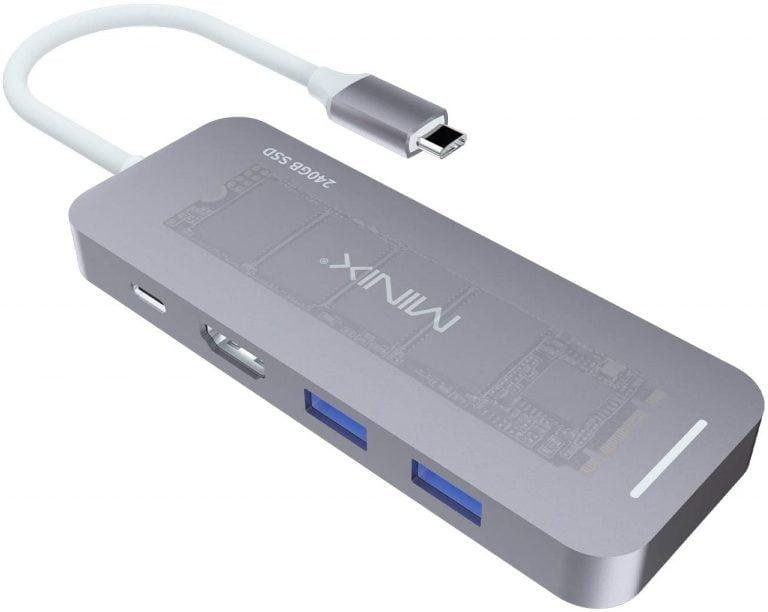 MacBook USB-C Hubs mit integriertem SSD Speicher