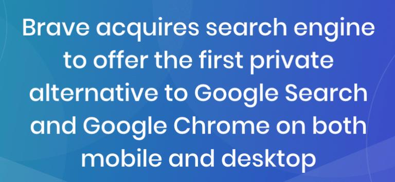 Brave wird neben Browser auch Suchmaschine