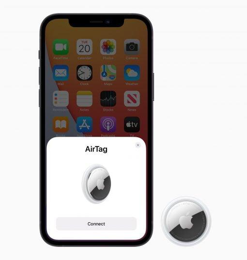 Apple airtag pairing screen 042021